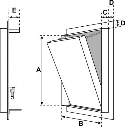 Ugunsizturīgas lūkas sienām EI30, EI90
