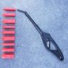 Špakteļlāpstiņa silikonam, 9 uzgali